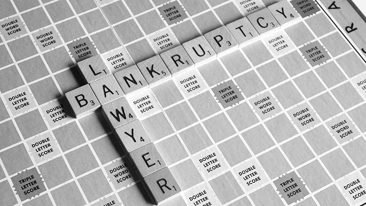 bankruptcy lawyer written on the game scrabble