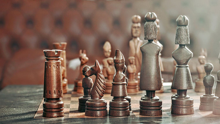 chess pieces made as people